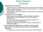 policy solutions financing