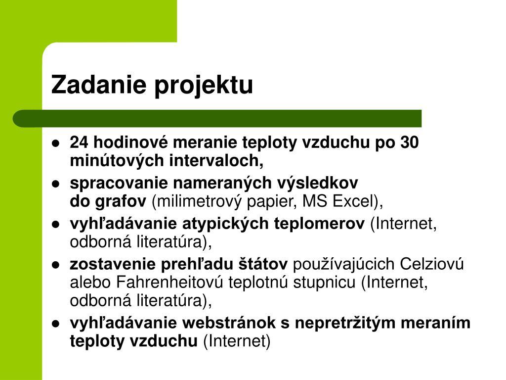 Zadanie projektu