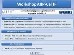 workshop aiip cetif