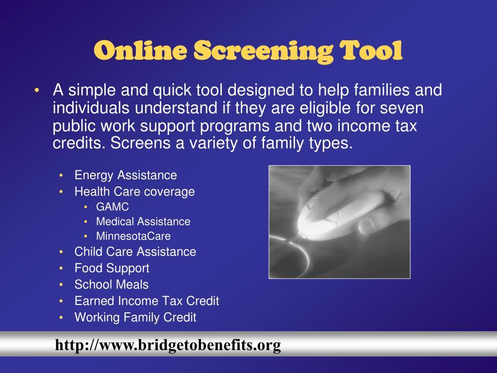Online Screening Tool