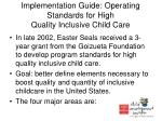 implementation guide operating standards for high quality inclusive child care
