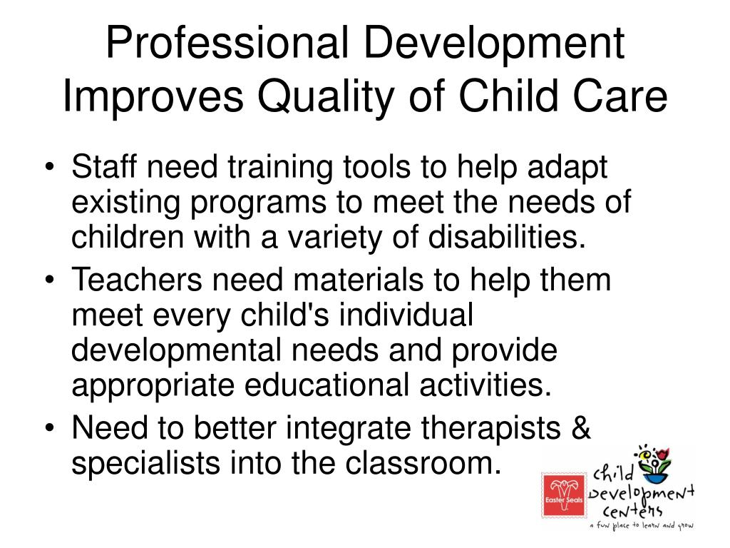 Professional Development Improves Quality of Child Care