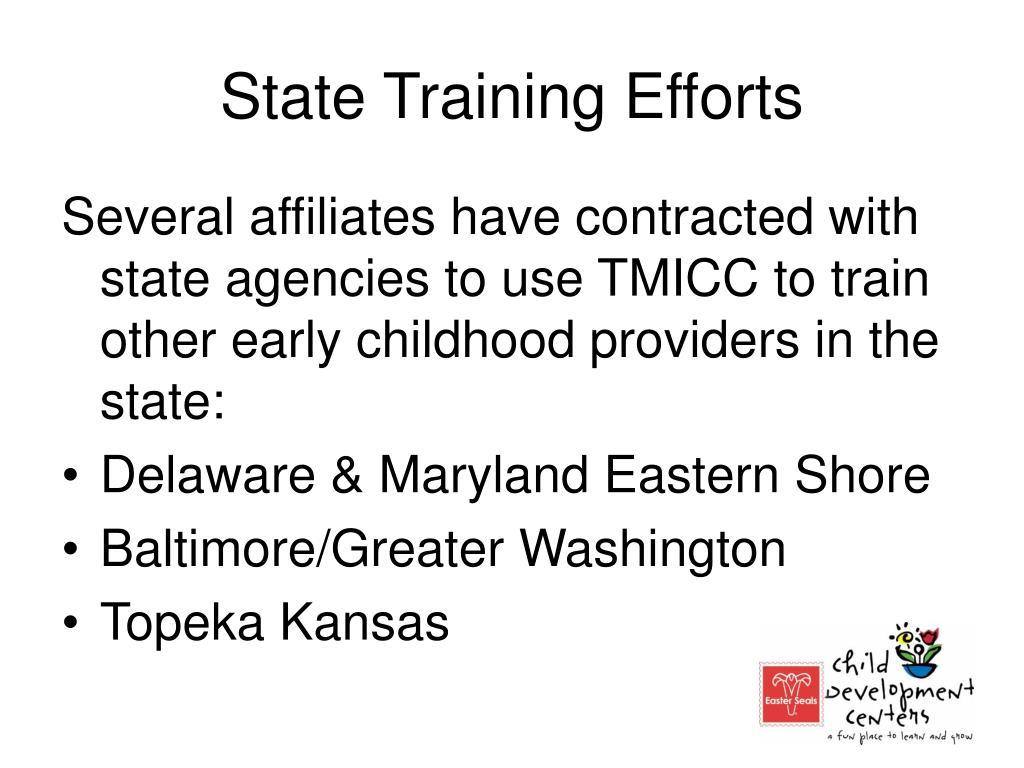 State Training Efforts