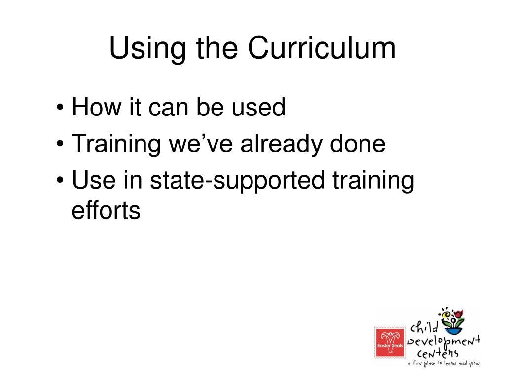 Using the Curriculum