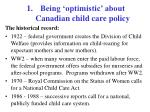 being optimistic about canadian child care policy