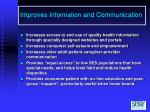 improves information and communication