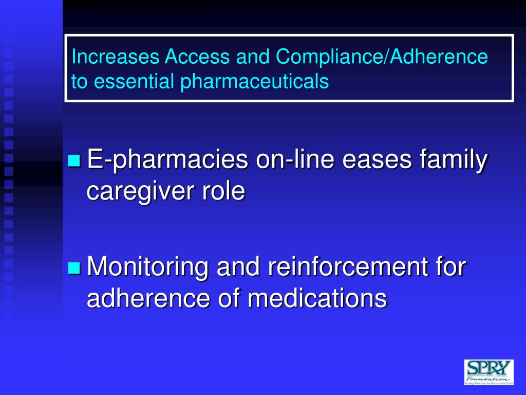 Increases Access and Compliance/Adherence to essential pharmaceuticals