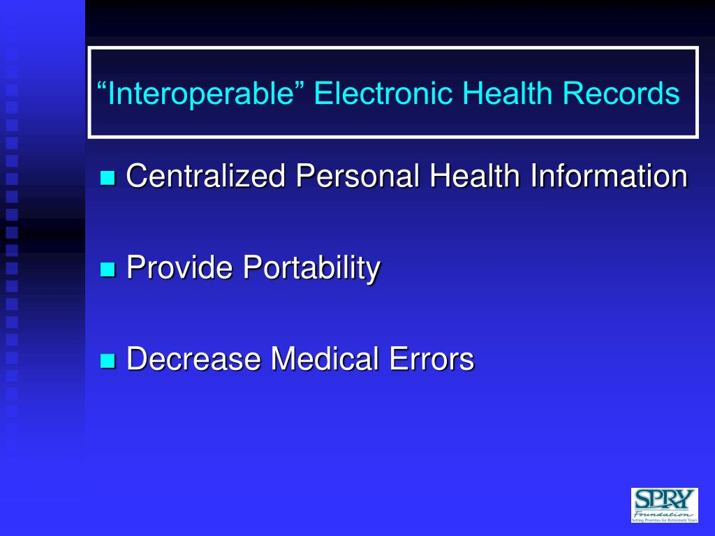 """""""Interoperable"""" Electronic Health Records"""