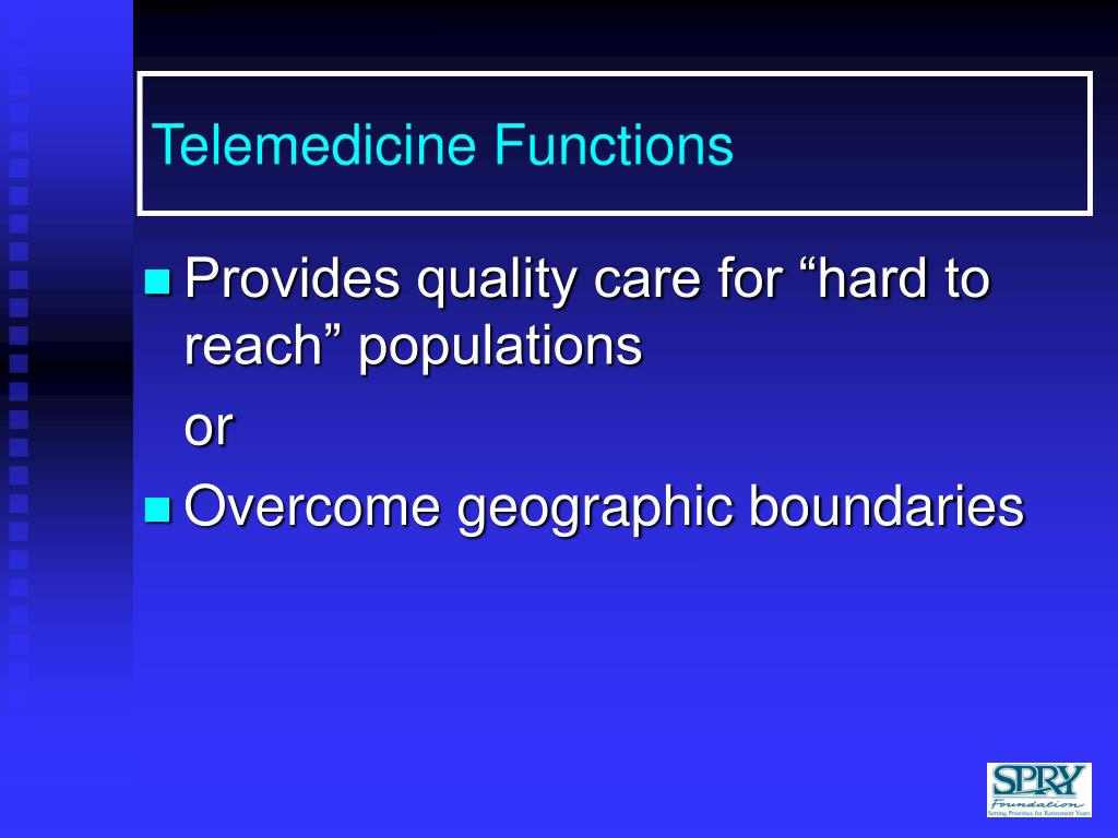 Telemedicine Functions