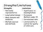 strengths limitations