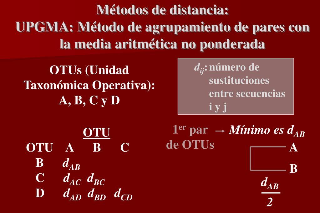Métodos de distancia: