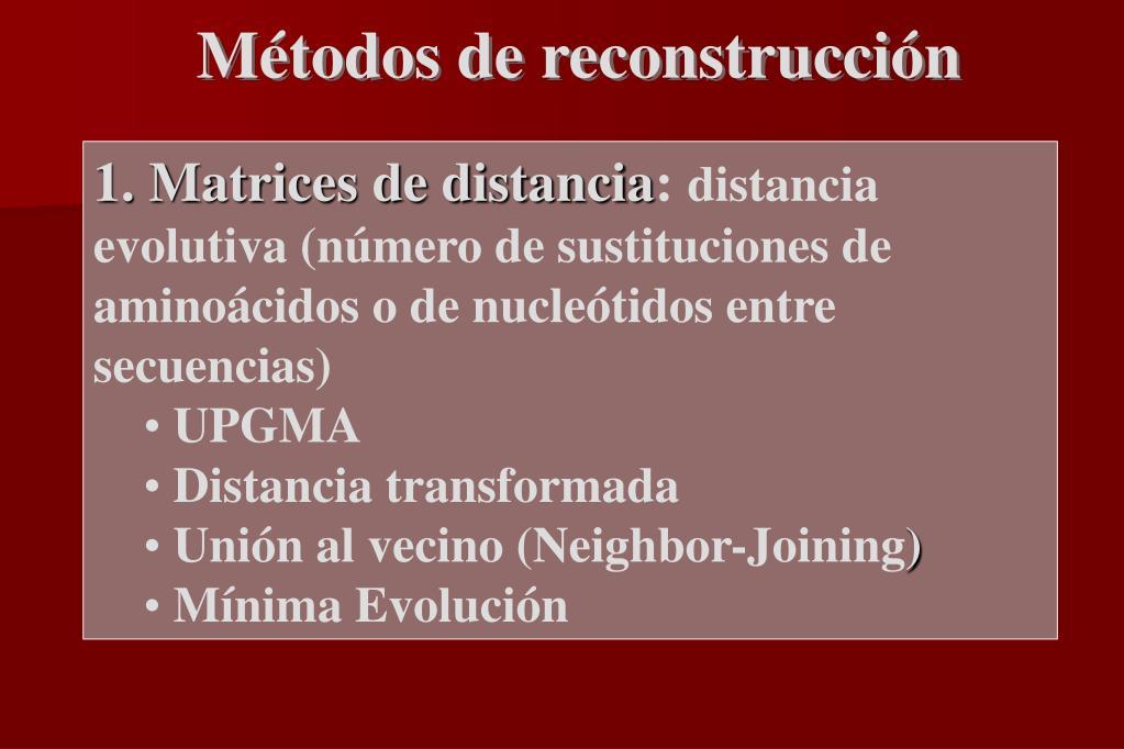 Métodos de reconstrucción