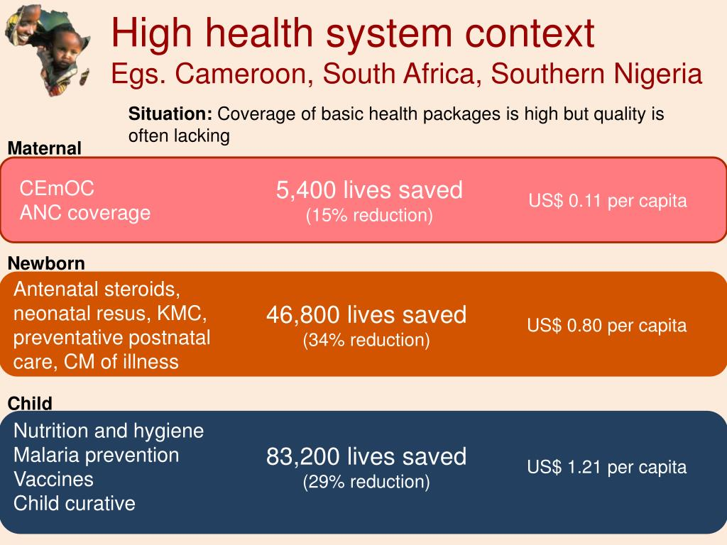 High health system context