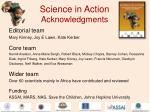 science in action acknowledgments