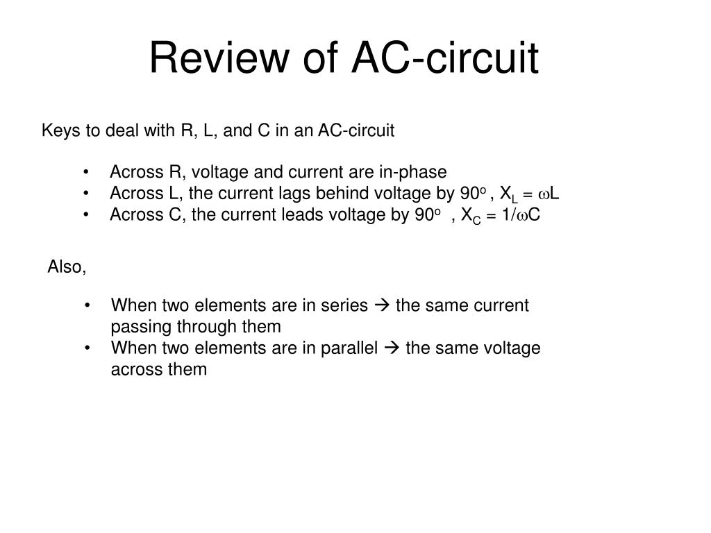 Parallel Ac Circuits Ppt Wiring Diagram And Ebooks Formula For Current In An Circuit Review Of Powerpoint Presentation Id 768062 Rh Slideserve Com Rlc Formulas