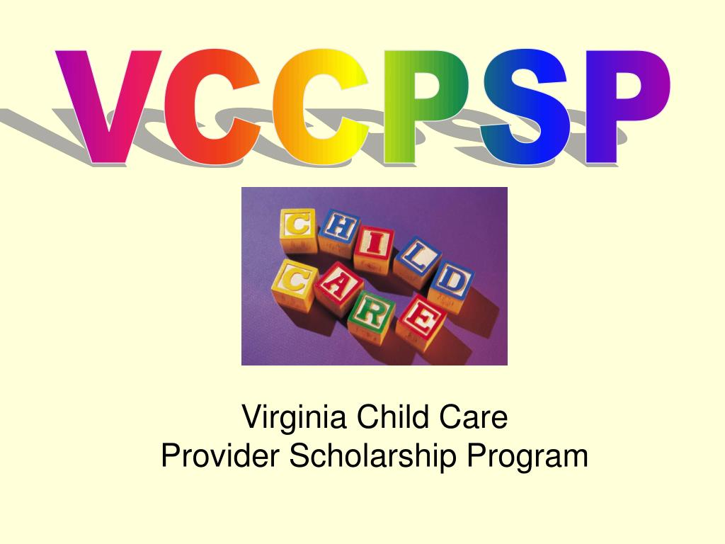 virginia child care provider scholarship program l.