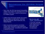 vaccinations for children program vfc