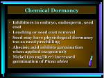 chemical dormancy