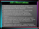 jill s observations