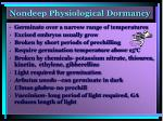 nondeep physiological dormancy