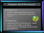 organic seed dormancy