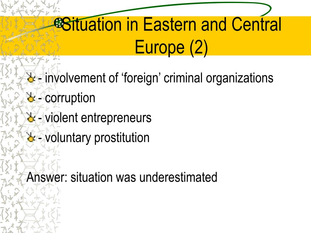 Situation in Eastern and Central Europe (2)