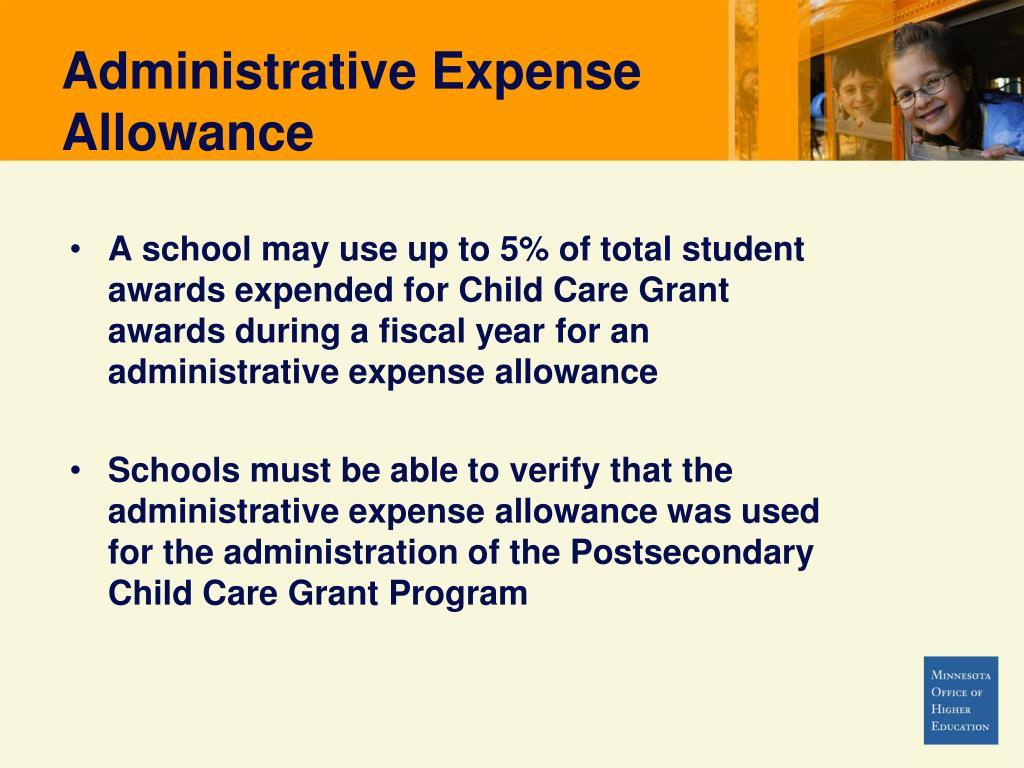 Administrative Expense Allowance