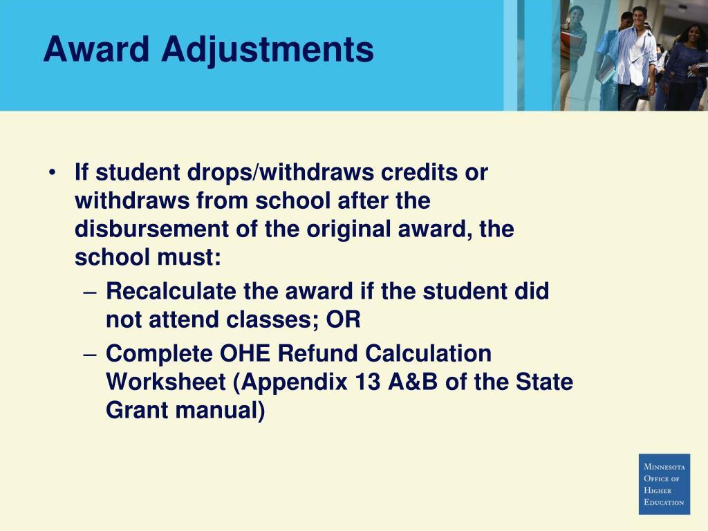 Award Adjustments