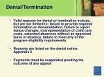 denial termination67