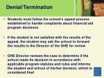 denial termination68