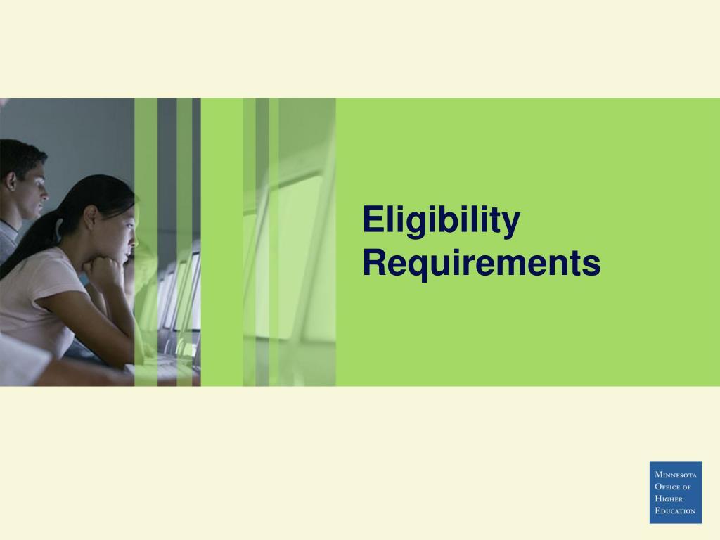 Eligibility Requirements