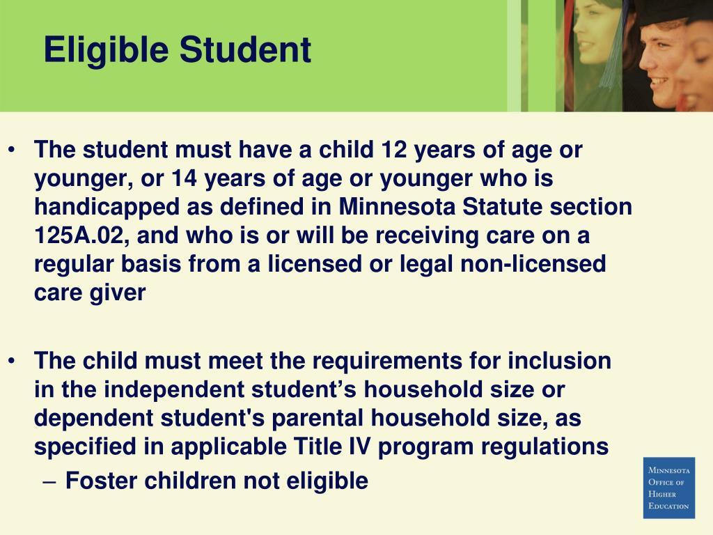Eligible Student