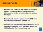 excess funds