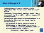 maximum award