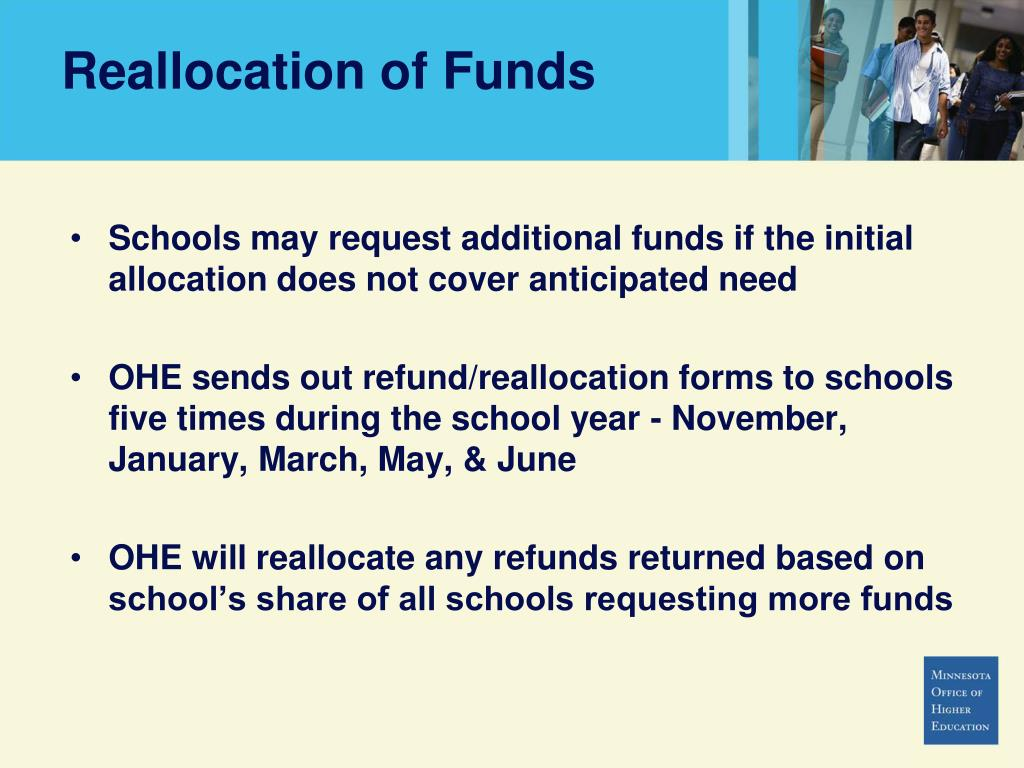 Reallocation of Funds