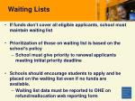 waiting lists