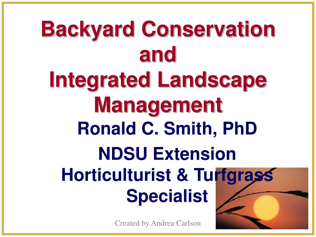 Backyard Conservation and