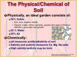 the physical chemical of soil