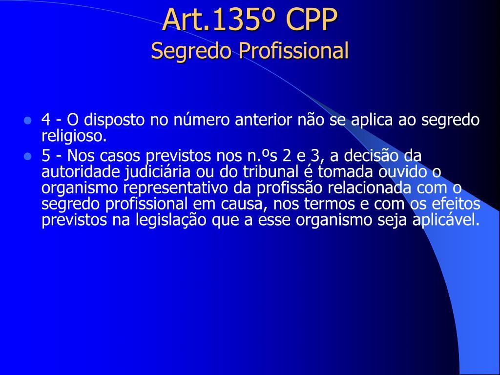 Art.135º CPP