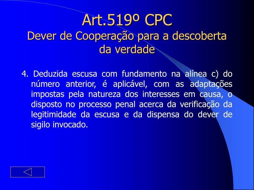 Art.519º CPC