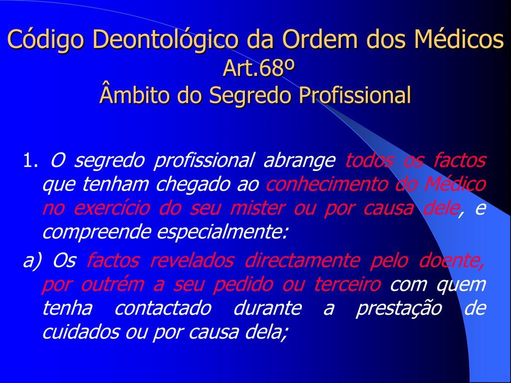 Código Deontológico da Ordem dos Médicos