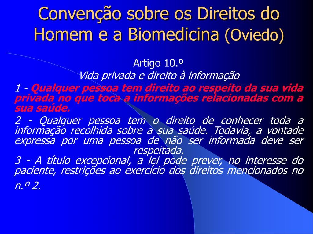 Convenção sobre os Direitos do Homem e a Biomedicina