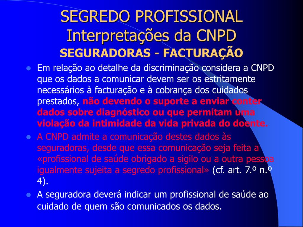 SEGREDO PROFISSIONAL