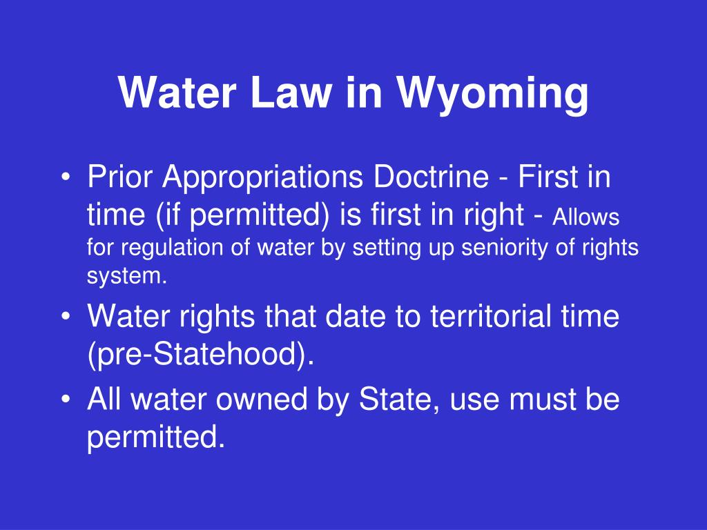 Water Law in Wyoming