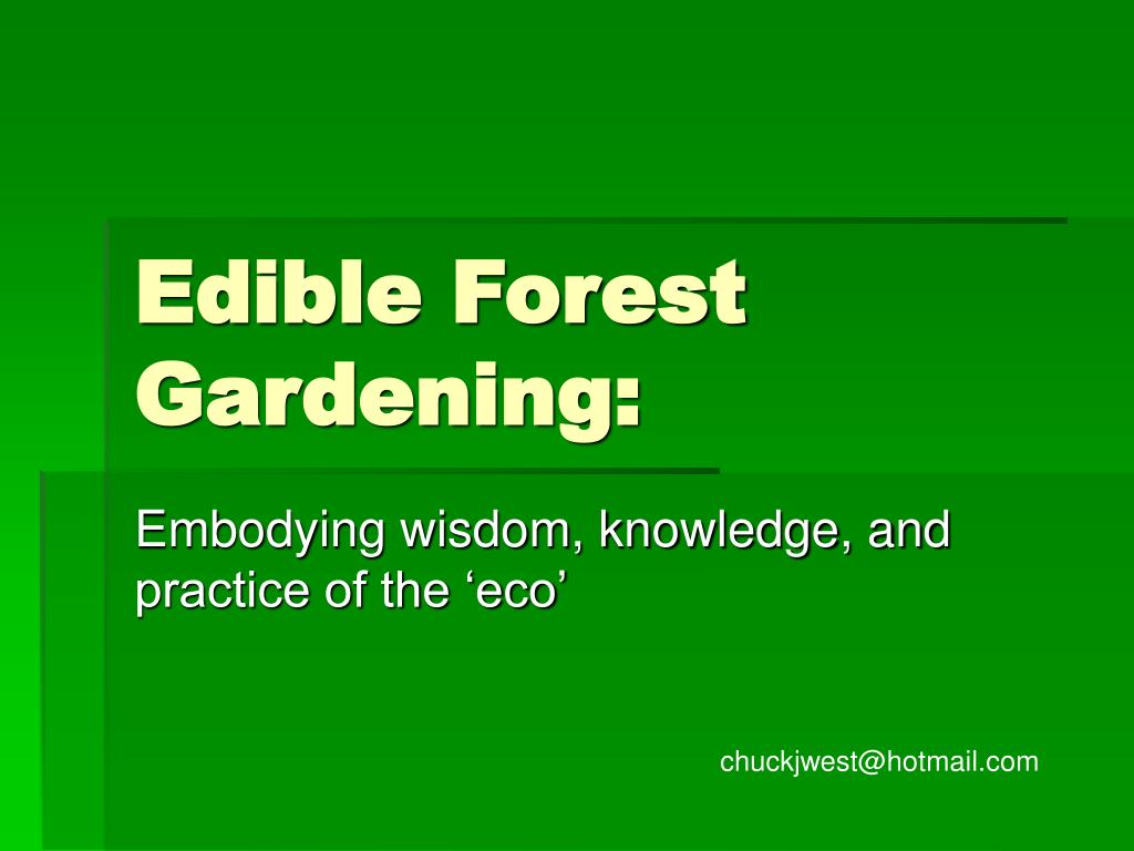 edible forest gardening l.