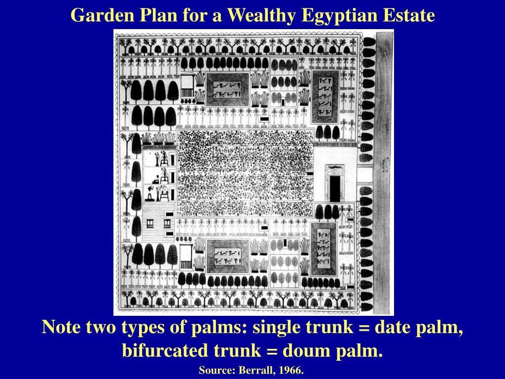 Garden Plan for a Wealthy Egyptian Estate