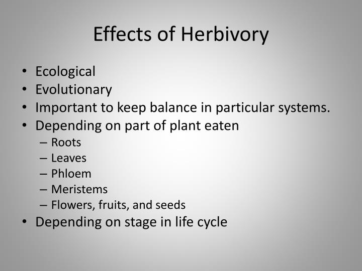 Effects of herbivory