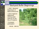 backyard buffer beginnings