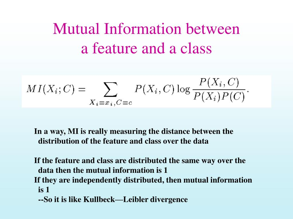 Mutual Information between