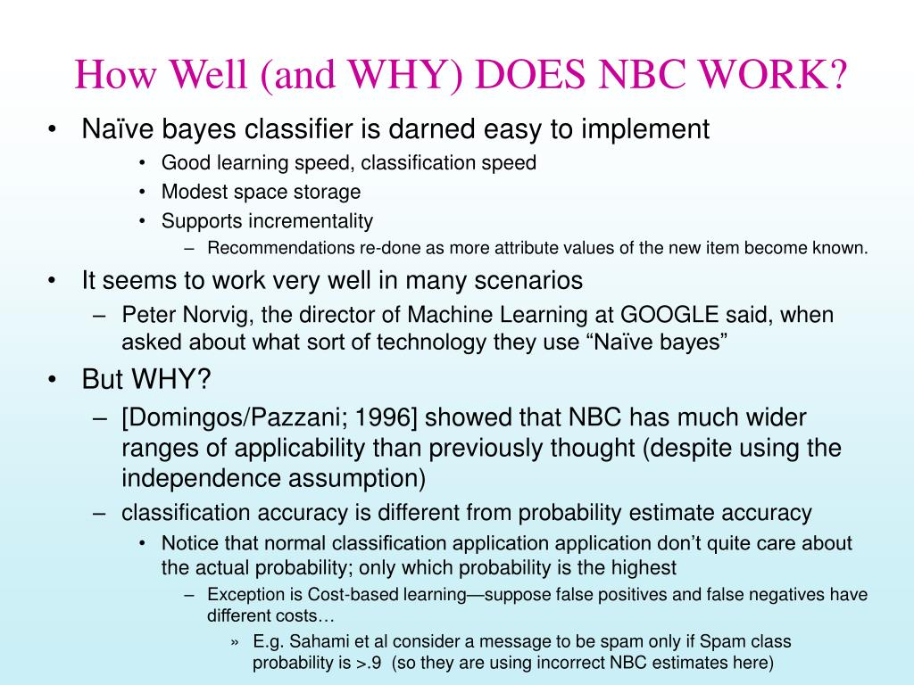 How Well (and WHY) DOES NBC WORK?